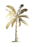 Gold Foil Tropical Palm II Posters av  Vision Studio
