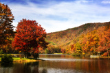 Mountain Lake Autumn Photographic Print by Alan Hausenflock