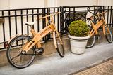 Wooden Bicycles in Amsterdam Fotografie-Druck von Erin Berzel
