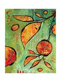 Orange is Happy Art by BJ Lantz