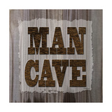 ManCave Wood Sq Print by Todd Williams