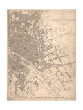 1833 Paris Map Prints by N. Harbick