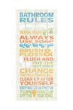 Bathroom Rules I Prints by N. Harbick