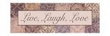 Live, Laugh, Love Stampa fotografica di Todd Williams