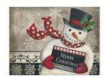 Christmas Snowman Kunstdrucke von Kimberly Poloson