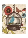 Birds and Blooms III Posters af Todd Williams