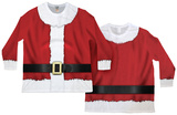 Long Sleeve: Big Sized Santa Ugly Sweater (Front/Back) T-shirts manches longues