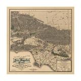 1900 LA Road Map Print by N. Harbick