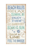 Beach Rules Posters by Todd Williams