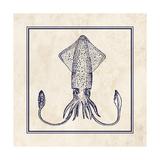 Squid Sq Kunstdruck von N. Harbick