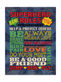 Superhero Rules Kunst van N. Harbick