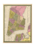 Vintage NYC Map Print by N. Harbick