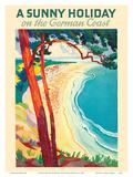 A Sunny Holiday on the German Coast Láminas por Werner Von Axster-Heudtlass