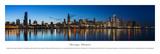 Chicago Shoreline at Night - Unframed Poster av Blakeway James
