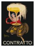Contratto - Italian Sparkling Wine Champagne - Belle Époque Art Prints by Leonetto Cappiello
