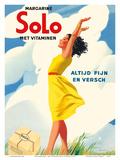 Solo Margarine - Met Vitaminen (With Vitamins) - Altijd Fijn en Versch (Always Nice and Fresh)