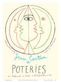 Poteries - Pottery Exhibition at the Tribunal de Pêche de Villefranche sur Mer Kunst av Jean Cocteau