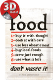Food Dont Waste It Tin Sign