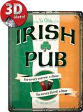 Irish Pub Plaque en métal