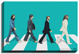 The Beatles - Green Horizon Abbey Road Stretched Canvas Print