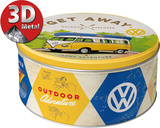 VW Bulli - Let's Get Away! Tin Box Novelty