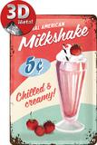 Milkshake Plaque en métal