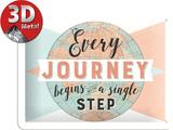 Every Journey begins Targa di latta