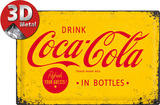 Coca-Cola Yellow Logo Plaque en métal