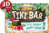Tiki Bar Plaque en métal