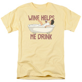 Bobs Burgers- Wine Helps Me Drink T-Shirt