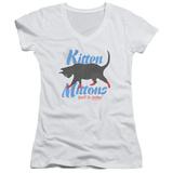 Juniors: Its Always Sunny In Philadelphia- Kitten Mittons V-Neck Womens V-Necks