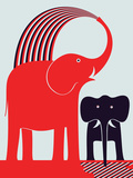 Red Elephant Pôsters por Greg Mably