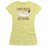 Juniors: Bobs Burgers- Wine Helps Me Drink T-shirts