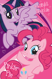 My Little Pony- Twilight Sparkle And Pinkie Pie Pósters