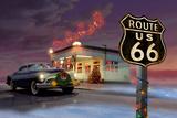 Christmas Route 66 Print by Chris Consani