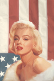 True Blue Marilyn in Pink Poster von Chris Consani
