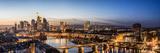 Frankfurt, Hesse, Germany, Frankfurt Skyline Financial District at Dusk Fotografisk trykk av Bernd Wittelsbach
