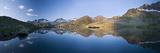 Austria, Tyrol, Stubai Alps, Mutterberg-See, ZuckerhŸtl, Mountain Scenery Impressão fotográfica por Rainer Mirau