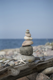 Stone Tower, Sea, Beach, Starfish Photographic Print by Andrea Haase