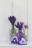 Lavender, Blossoms, Smell, Heart, Chives Blossoms Photographic Print by Andrea Haase