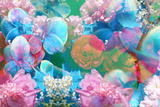 Dreamy Photographic Layer Work of Flowers, Floral Montage Stampa fotografica di Alaya Gadeh