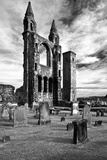 Scotland, St. Andrews, Old Cathedral, Ruin, B / W Photographic Print by Thomas Ebelt