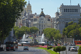 Spain, Madrid, Street-Scene, Calle De Alcala, Plaza De La Cibeles, Cibeles-Fountain Photographic Print by Chris Seba