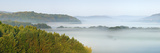 Germany, Saxony-Anhalt, South Harz Landscape, Morning Fog, Panorama, Scenery, Nature, Fog Fotografie-Druck von Andreas Vitting
