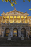 Spain, Madrid, State Archive, National-Library, Illuminates, Outside, Twilight Photographic Print by Chris Seba