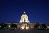 Night Photography: Pasadena City Hall, Los Angeles, California September Photographic Print by Christina Czybik