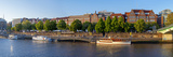 Banks of Weser, Martinianleger (Downtown Pier), Bremen, Germany, Europe Photographic Print by Chris Seba