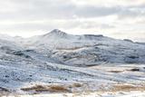 Mountains Frodarheidi, Route 54, Snaefellsnes, West Iceland Reproduction photographique par Julia Wellner