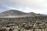 Lavafields and Hills, Hnappadalur, Snaefellsnes, West Iceland Reproduction photographique par Julia Wellner