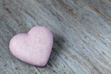 Purple Heart on Wood Photographic Print by Andrea Haase